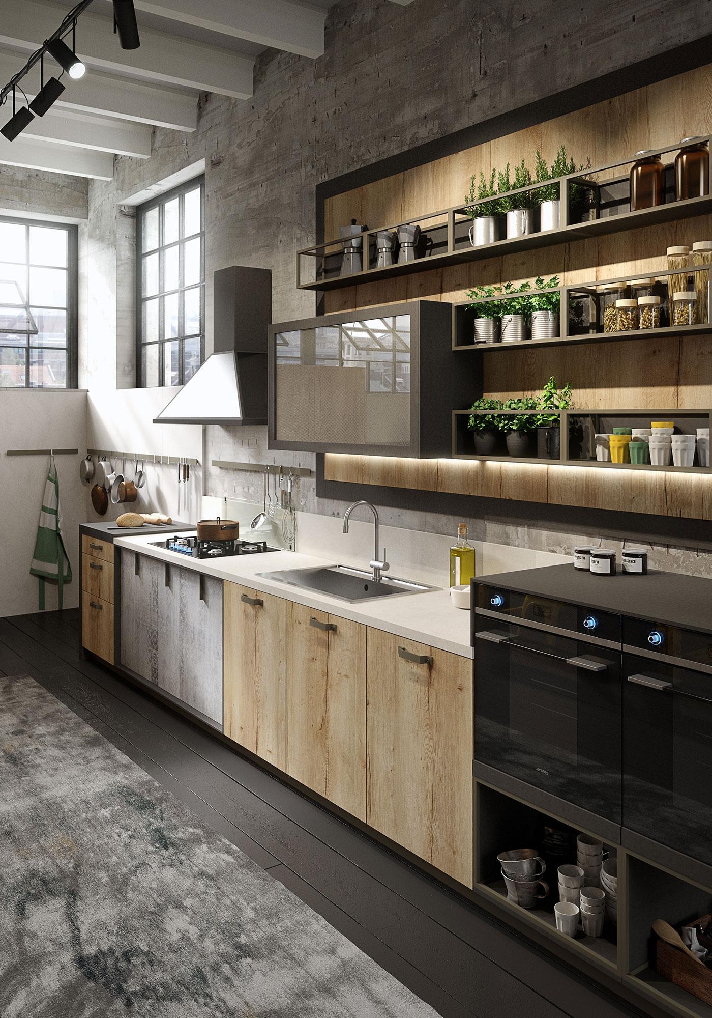 Beautiful Cucine In Legno Grezzo Pictures - Ideas & Design 2017 ...